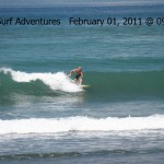 small, clean surf in pavones